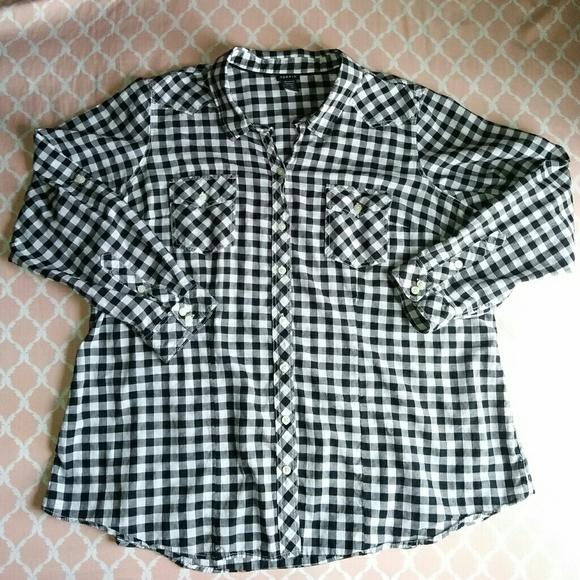 5960164d10f0b0 torrid Tops   Black And White Checkered Top Plus Size 3x   Poshmark
